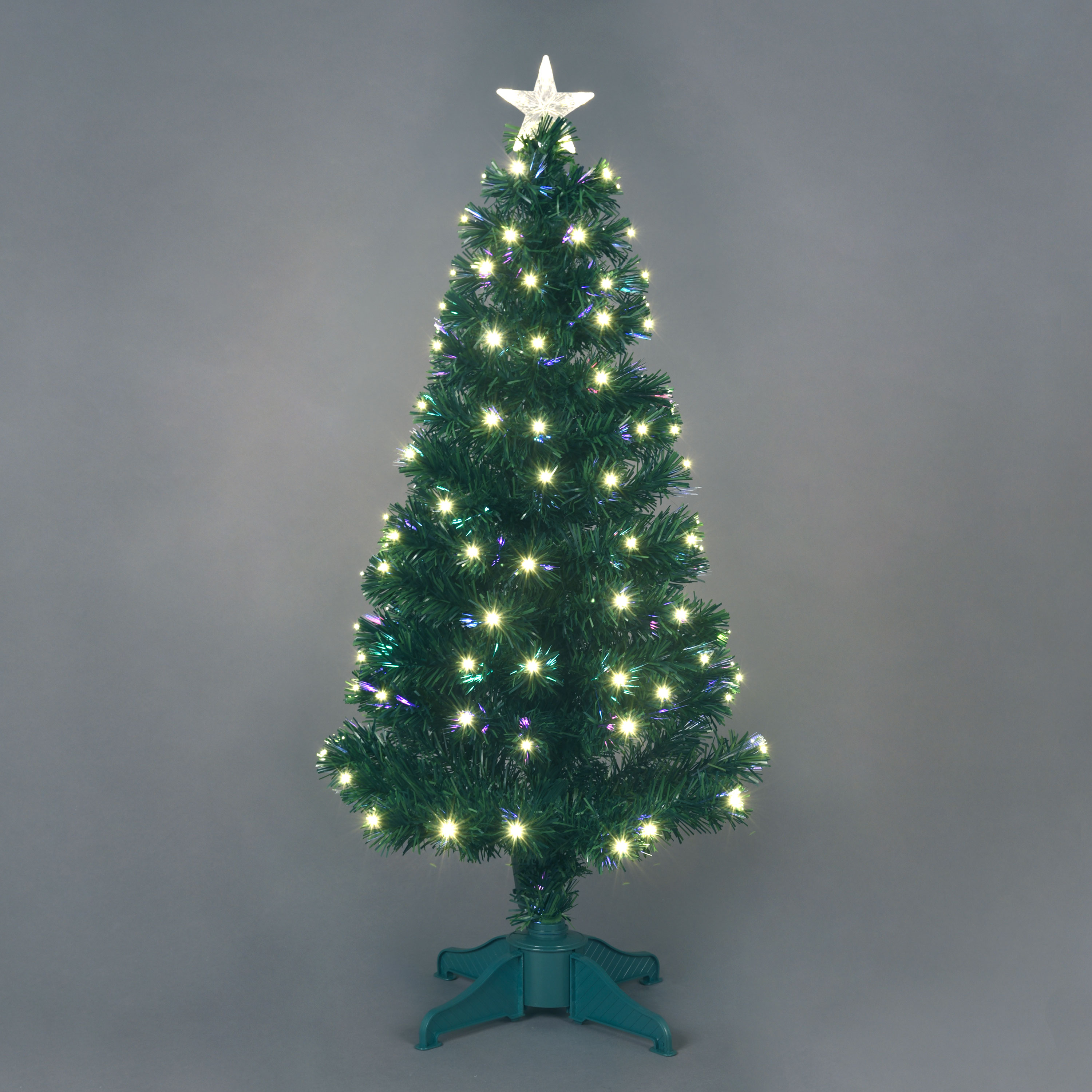 5ft Fibre Optic Saturn Christmas Tree with Ice White LEDs