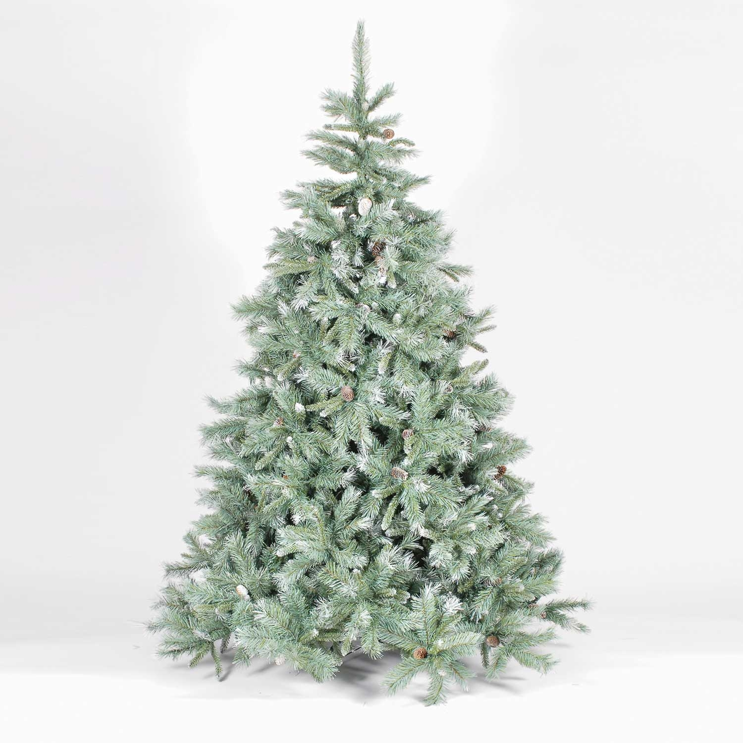 93772cac5301 Frosted Emerald Fir Blue Green Artificial Christmas Tree - Party ...