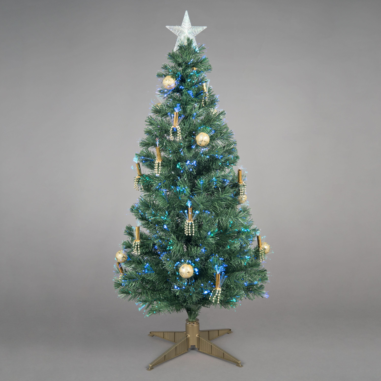 5ft Golden Grace Fibre Optic Christmas Tree